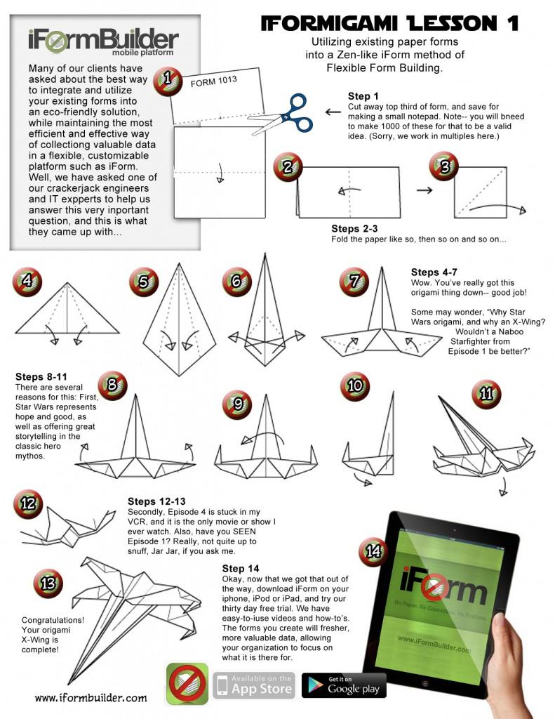iFormBuilder Star Wars Origami lesson