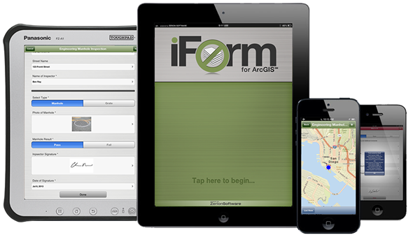 iformBuilder and Esri team with ArcGIS solutions